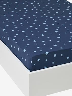 vertbaudet-spannbettlaken-sternbild-dunkelblau-sterne-gr-90x140