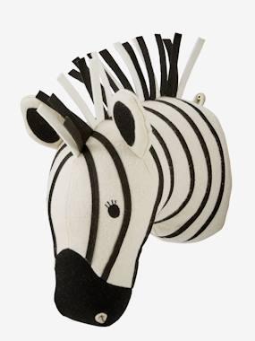 Zebrakopf Wanddekoration, Wandtrophäe weiß/schwarz von vertbaudet
