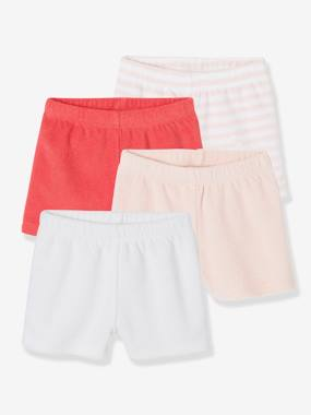 4er-Pack Frottee-Shorts für Baby Jungen rosa Gr. 80 von vertbaudet