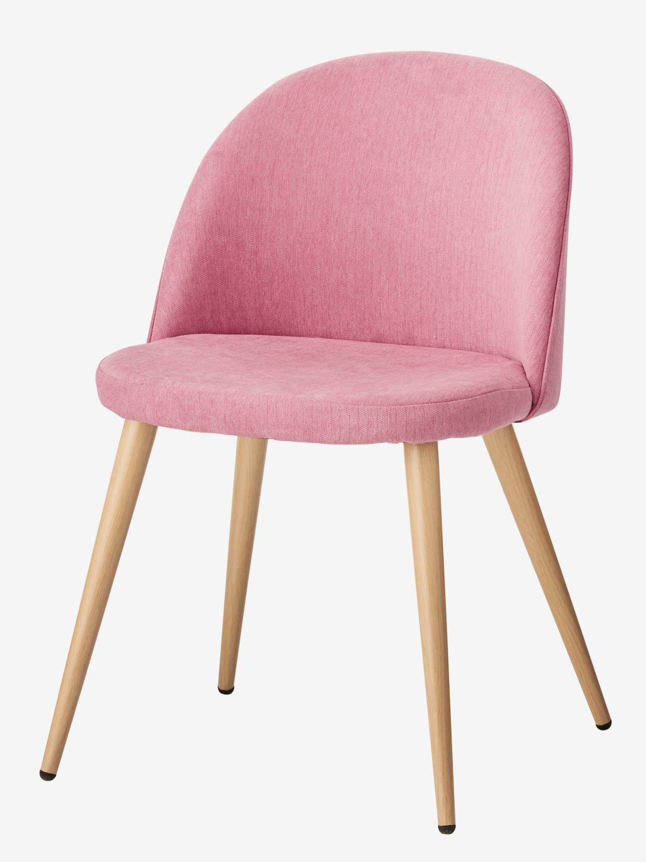 Kinder Schreibtischstuhl, Stoffbezug rosa