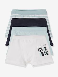 "Happy Price-Jungenkleidung-HAPPY PRICE 4 Boxershorts ""Navy"", Stretch"