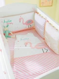 "Babyzimmer ""Flamingo Beach""-Bettumrandung mit Flamingo"