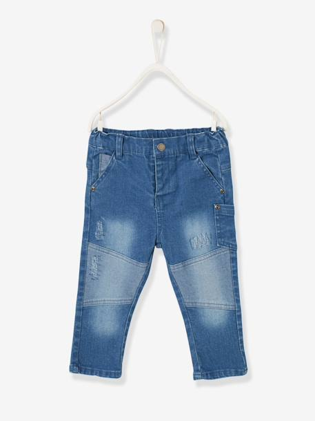 Slim-Fit-Jeans, Destroyed-Look - blue stone - 1