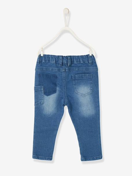 Slim-Fit-Jeans, Destroyed-Look - blue stone - 2