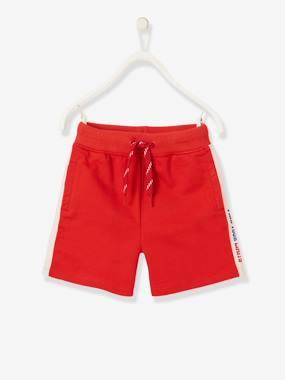 Sport-Bermudas für Jungen, Zierstreifen rot Gr. 86 von vertbaudet