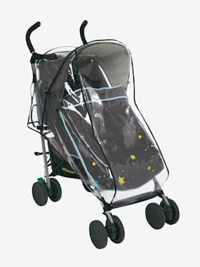 Regenverdeck für Kinderwagen transparent  von vertbaudet