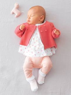 SALE bei vertbaudet-Babymode-Baby-Sets-Baby-Set: Kleid, Leggings und Cardigan