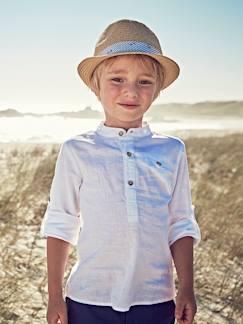 6227f402b861ae Festliche Kinderkleidung-Festliches Jungen Hemd Leinen Baumwolle