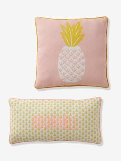 Sale-Boutique-2er-Set Kinder Kissen ,,Ananas