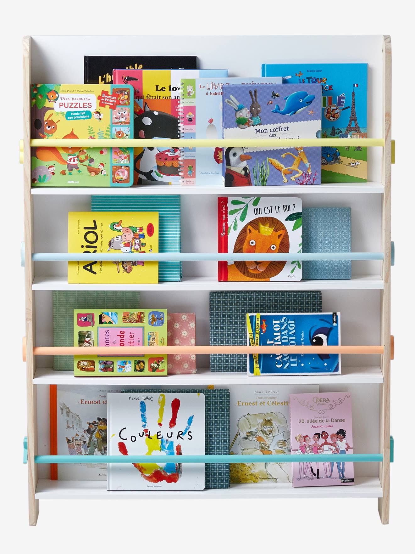 Vertbaudet Bucherregal Books Fur Kinder In Weiss Natur