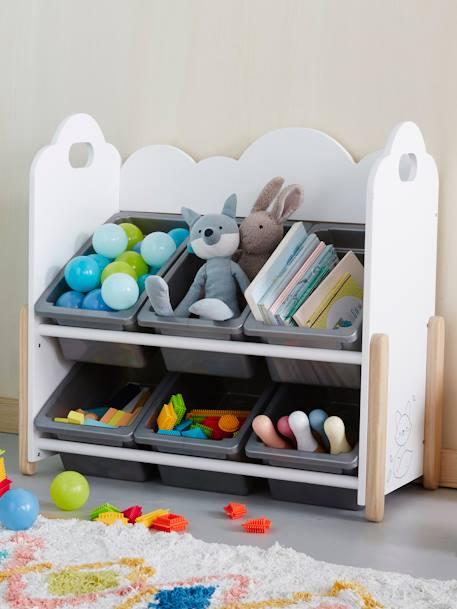 vertbaudet kinderzimmer regal wolke mit boxen in wei. Black Bedroom Furniture Sets. Home Design Ideas
