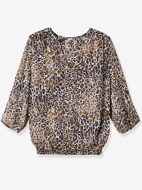 Umstandsbluse mit Leopardenmuster - leoprint - 1