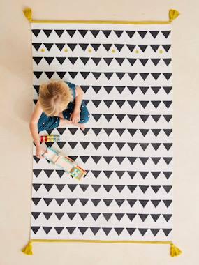 Kinder Teppich, Pompons & Fransen weiß von vertbaudet