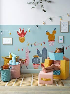 Kinderzimmer-Teppich, grafisches Muster senfgelb  von vertbaudet