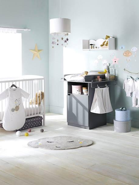 Vertbaudet Lampenschirm für Kinderzimmer in weiß/grau