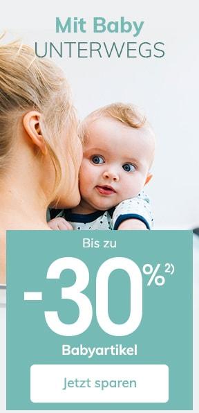 Bis zu -30% auf Babyartikel