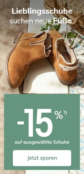 Bis zu -15% auf ausgewählte Schuhe