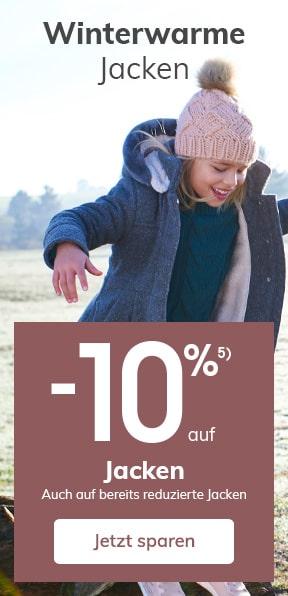 -10% auf JACKEN Auch auf bereits reduzierte Jacken